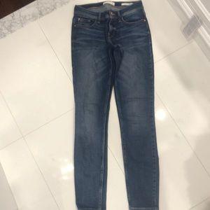 Guess Low Rise Skinny Jeans- Dark Wash